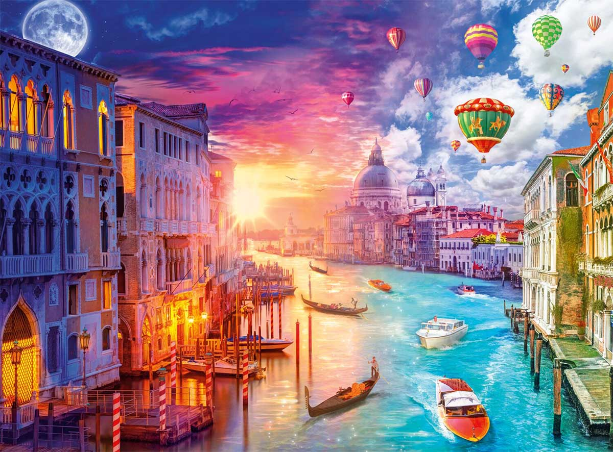 Venice, City on Water Boats Jigsaw Puzzle