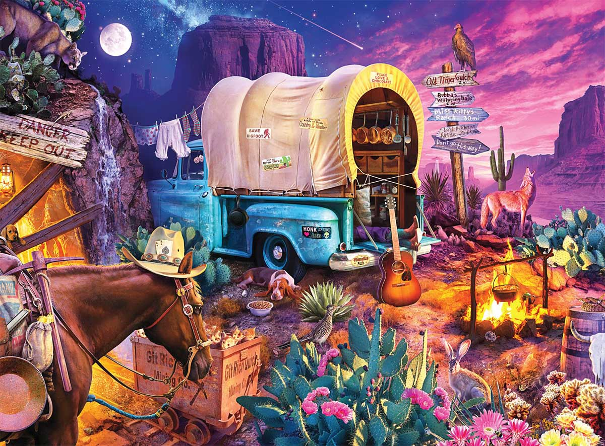 Wild West Camp Countryside Hidden Images