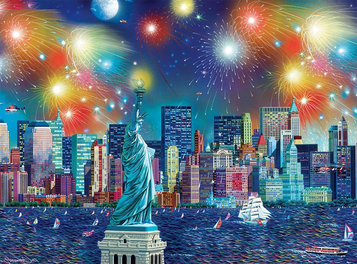 Manhattan Celebration Skyline / Cityscape Jigsaw Puzzle