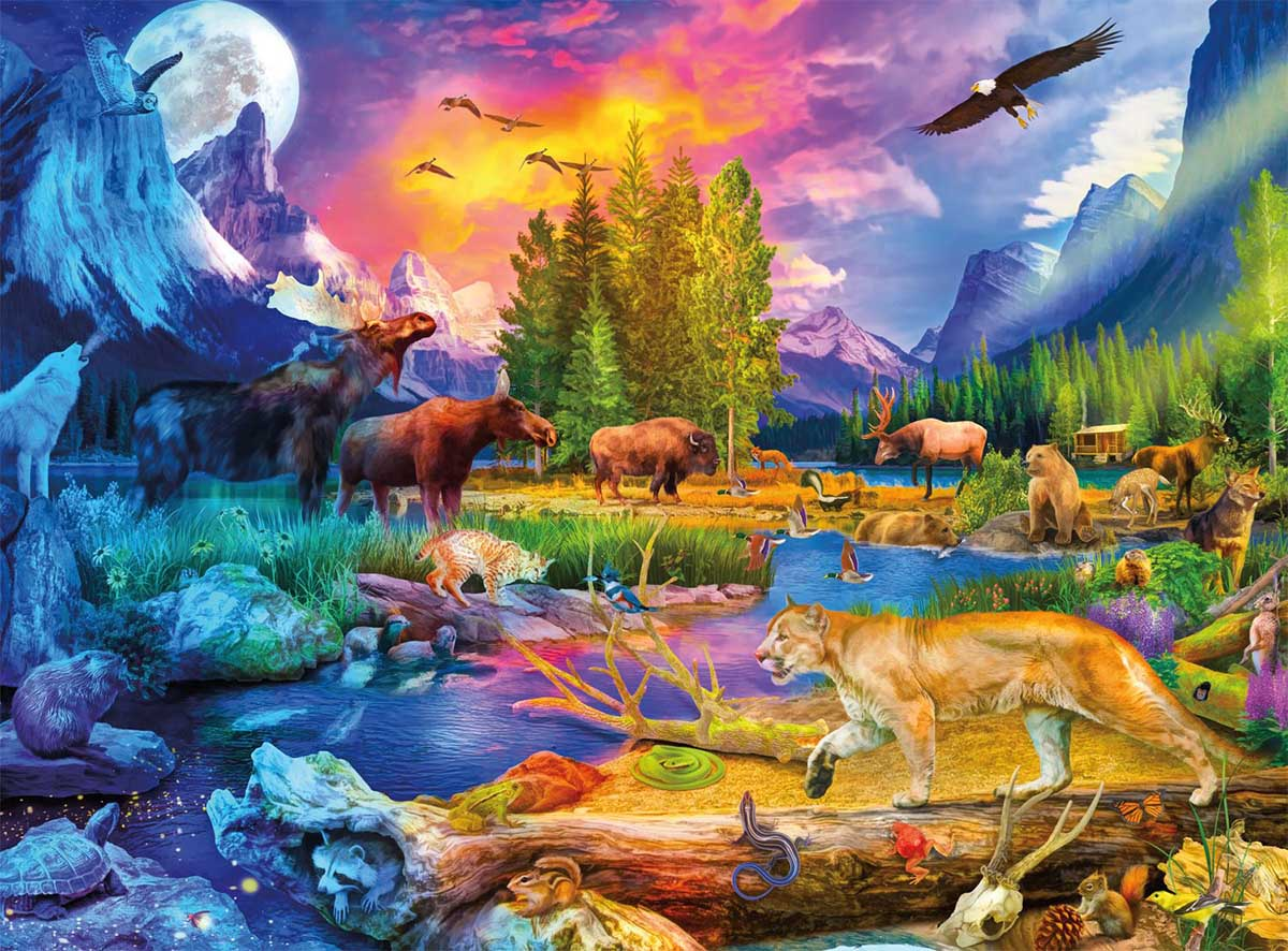The Wild North Animals Jigsaw Puzzle