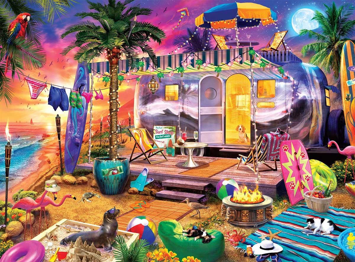 Beach Holiday Beach Jigsaw Puzzle