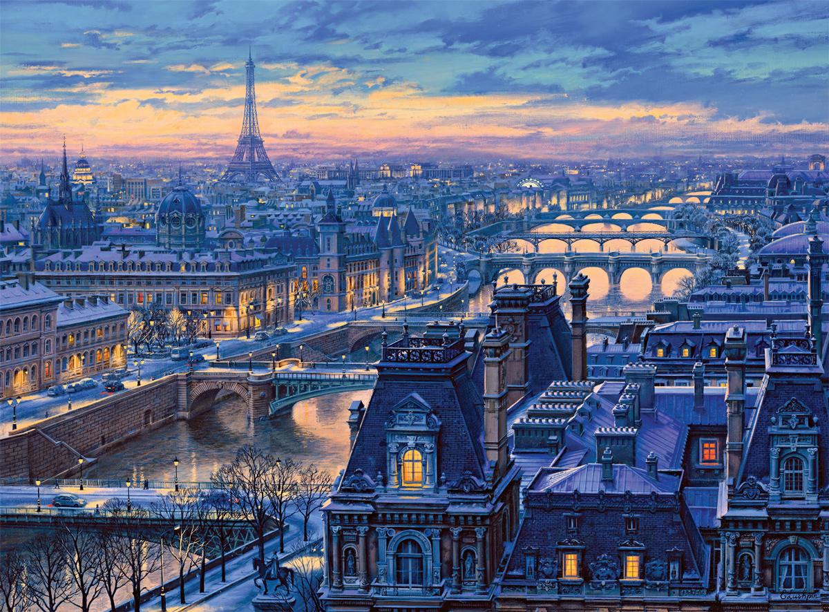 Spanning the Seine Paris Jigsaw Puzzle