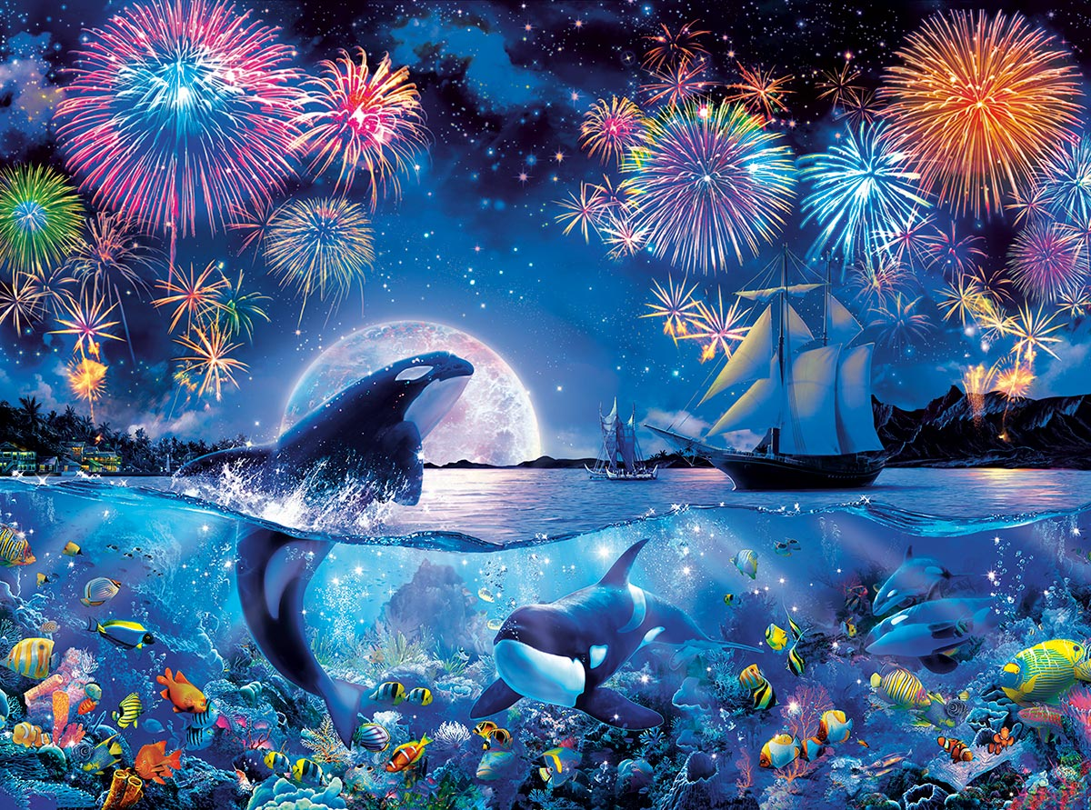 The Dramatic Night Under The Sea Jigsaw Puzzle