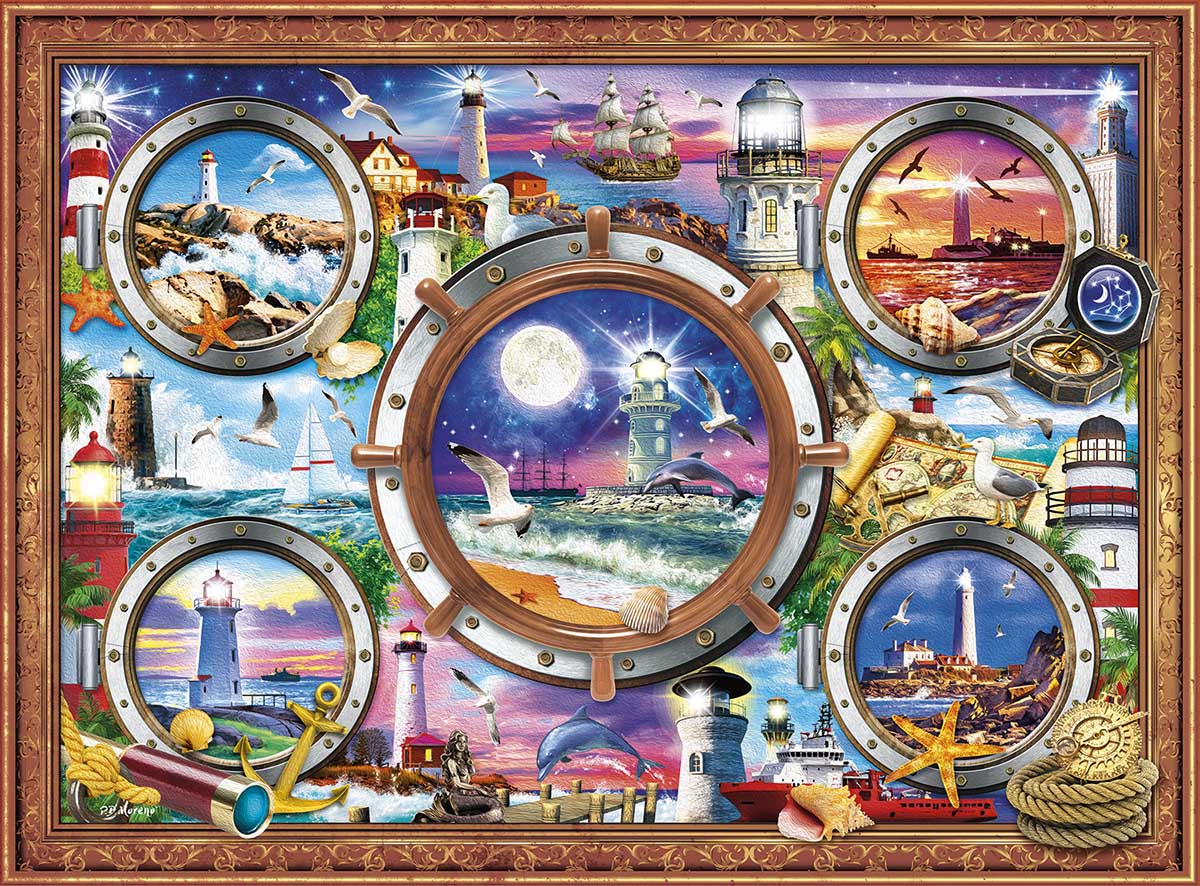 From Sea to Shining Sea Lighthouses Jigsaw Puzzle