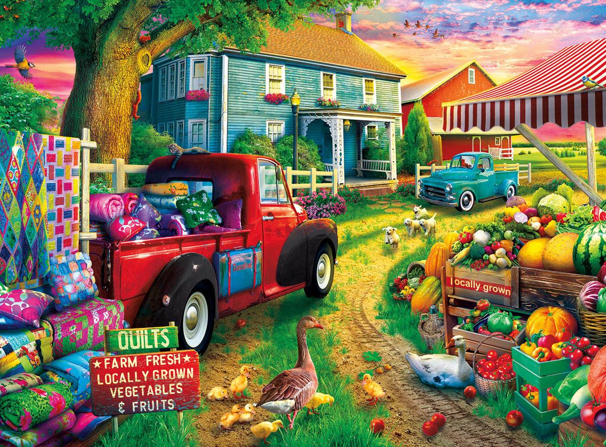 Quilt Farm Farm Jigsaw Puzzle