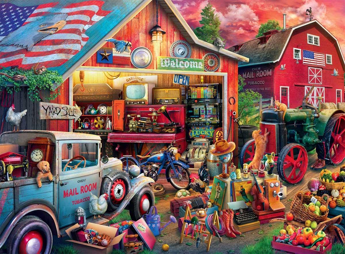 Antique Barn Farm Jigsaw Puzzle
