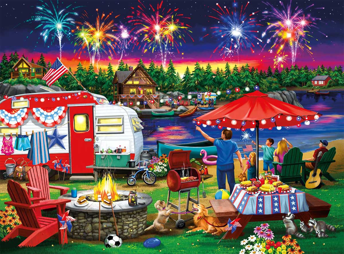 Fourth By The Lake Summer Jigsaw Puzzle