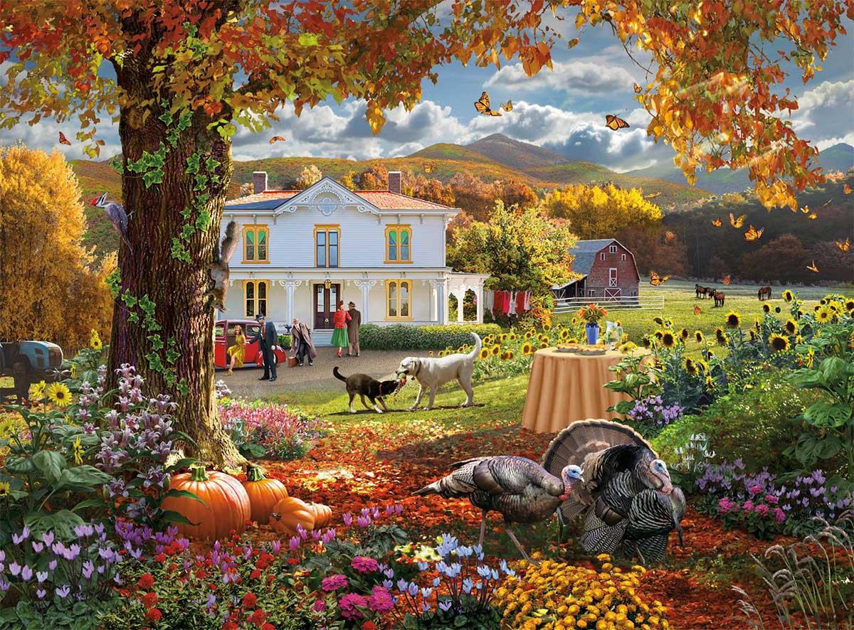 Autumn Paradise Farm Jigsaw Puzzle