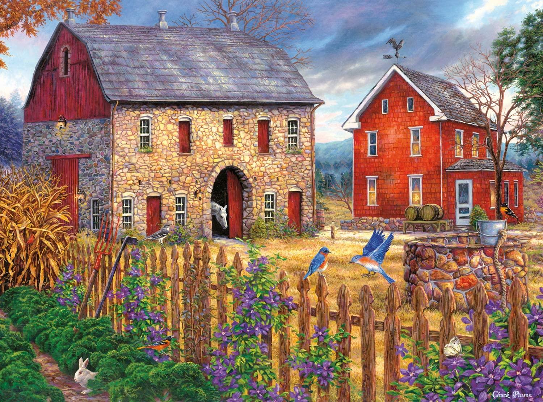 Bluebirds Song Farm Jigsaw Puzzle