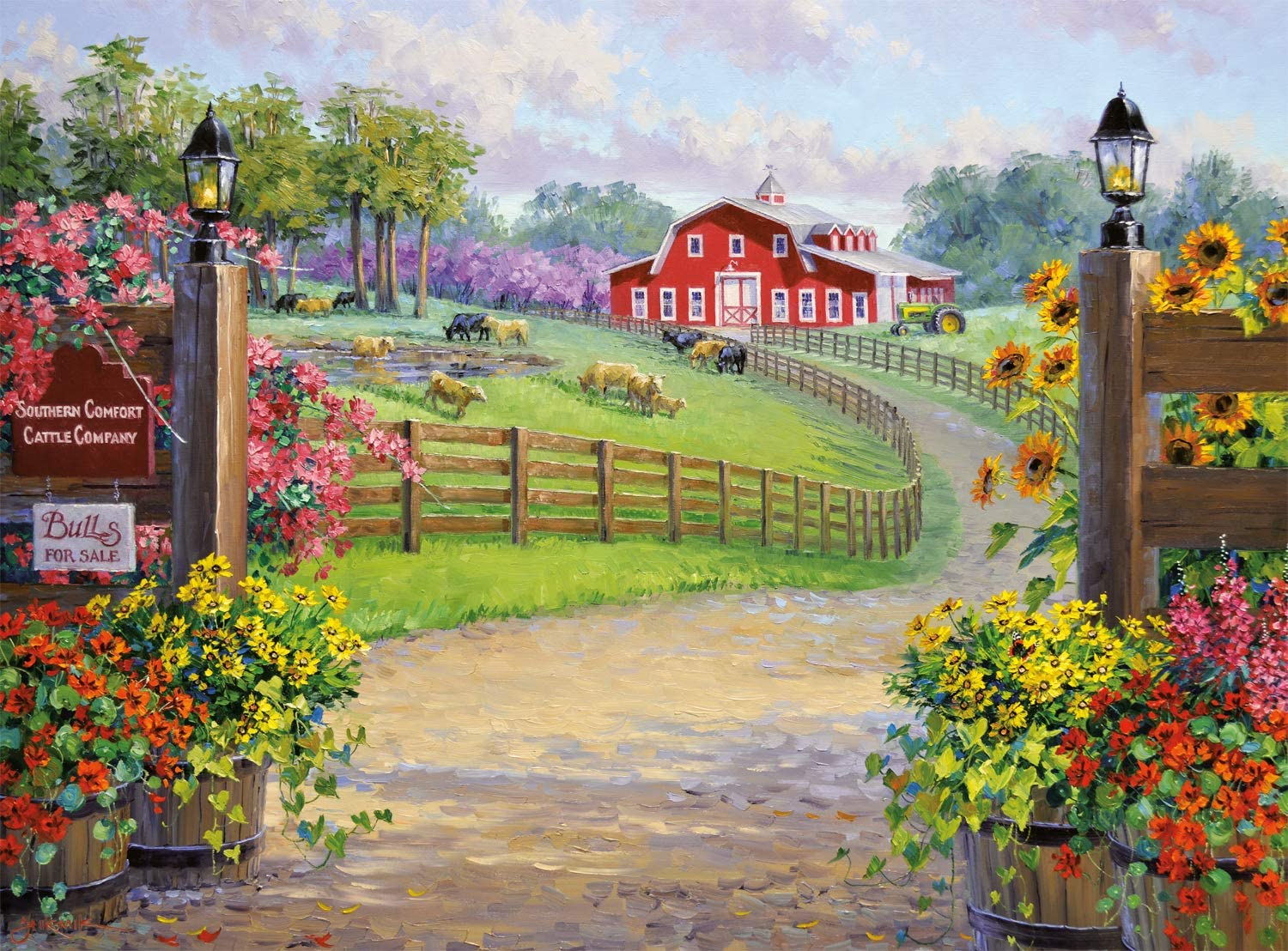 A Southern Warm Welcome Countryside Jigsaw Puzzle