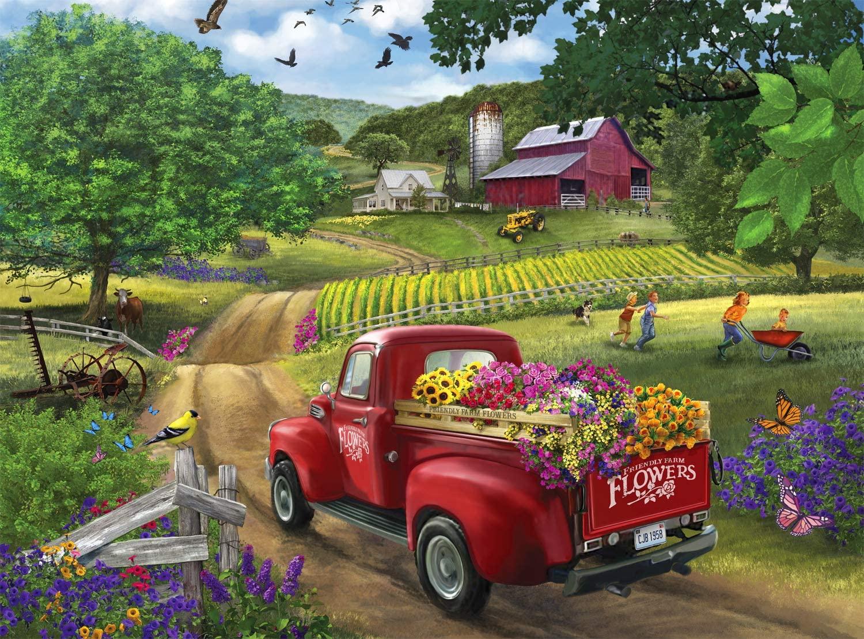 Friendly Farm Flowers Farm Jigsaw Puzzle