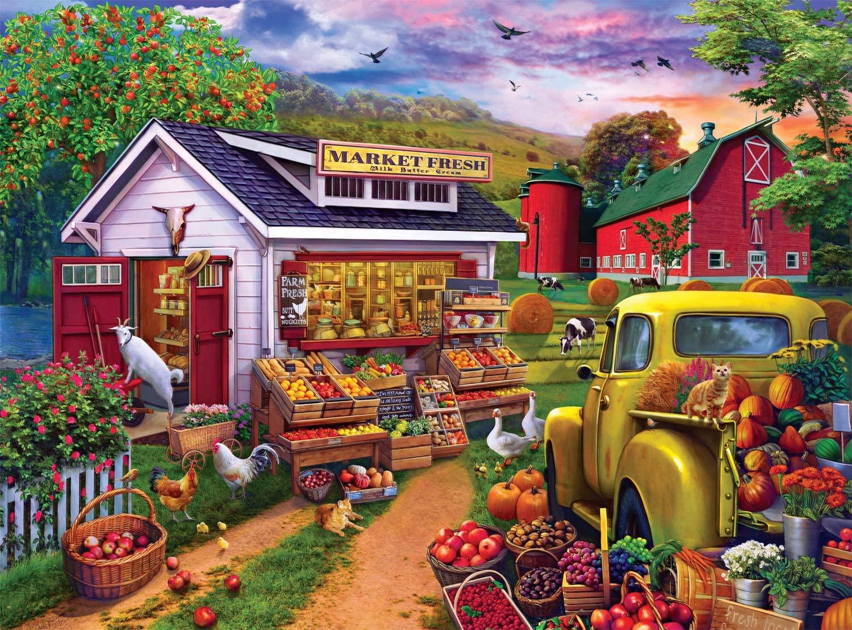 Morning Famers Market Farm Jigsaw Puzzle