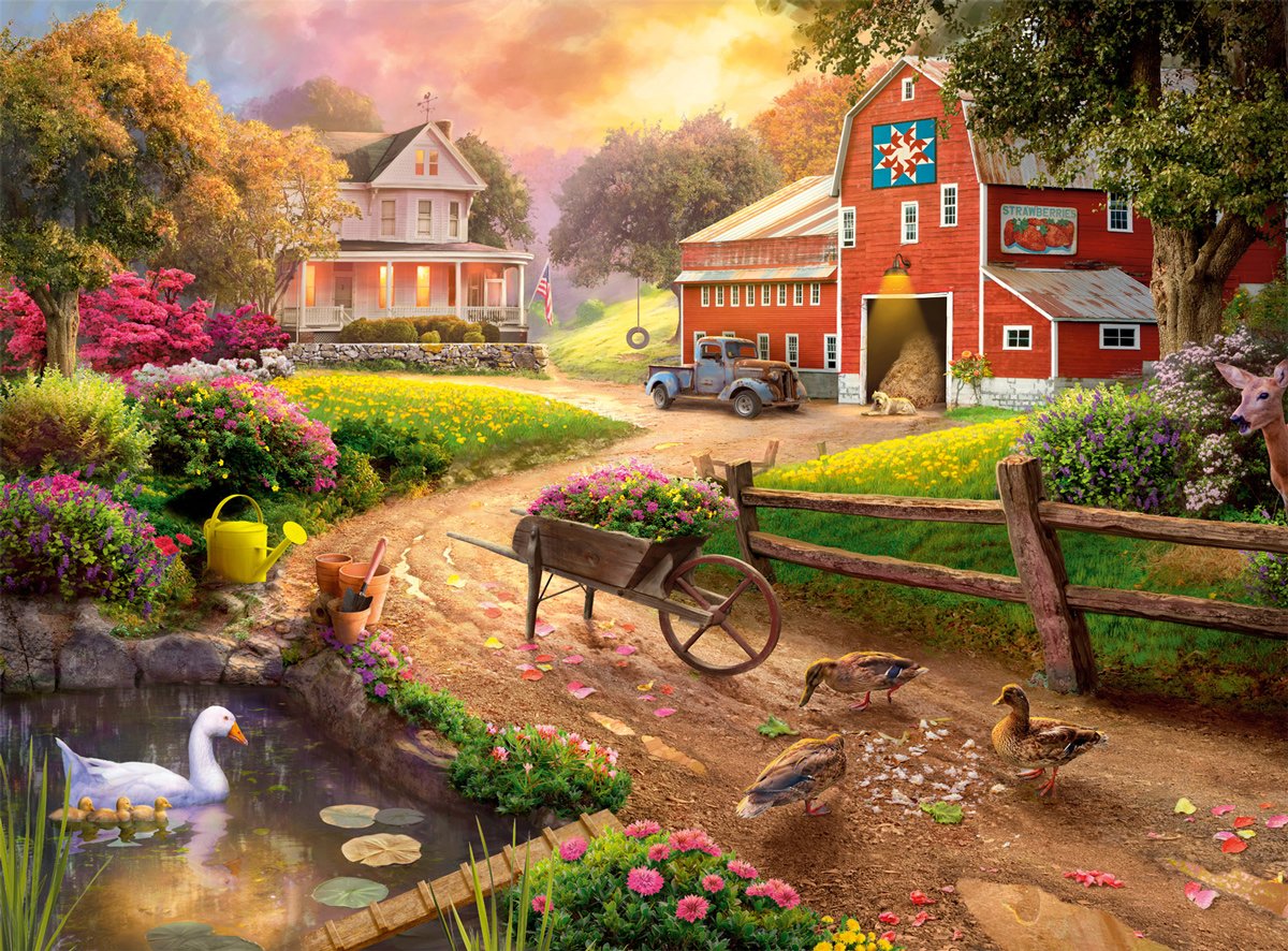 After The Rain Farm Jigsaw Puzzle