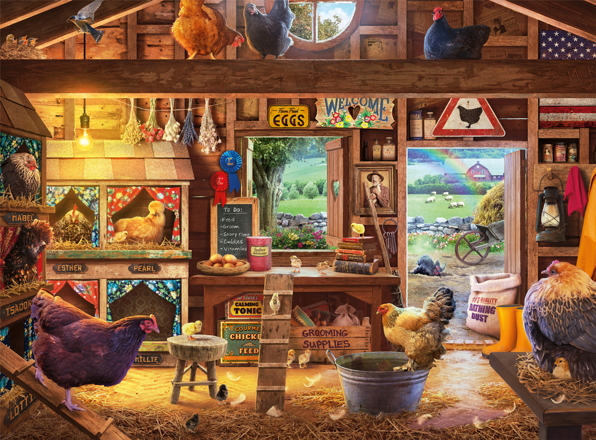 Country Ladies Farm Jigsaw Puzzle
