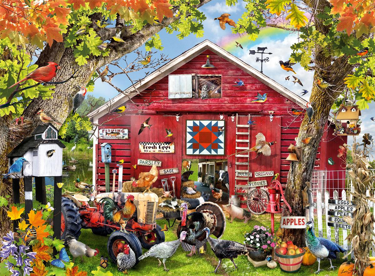 Feathered Farm Farm Jigsaw Puzzle