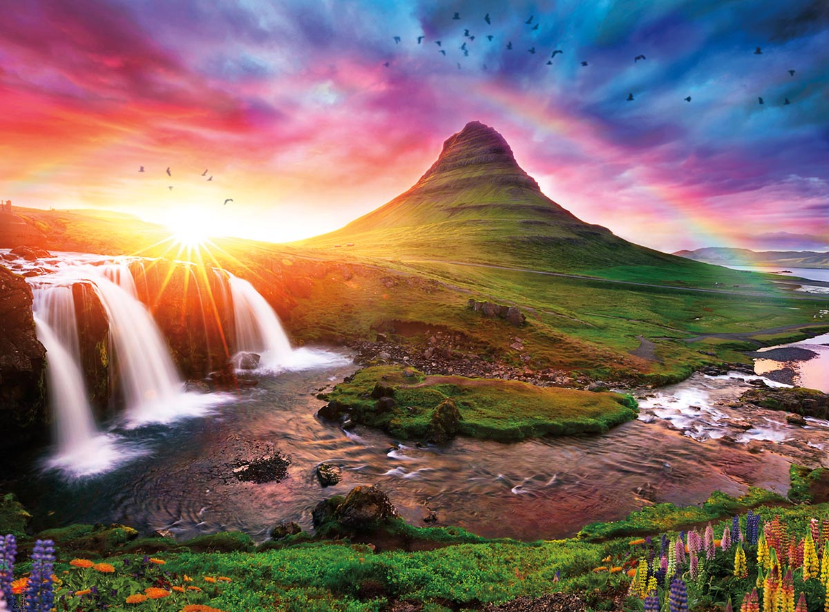 Iceland Sunset Travel Jigsaw Puzzle
