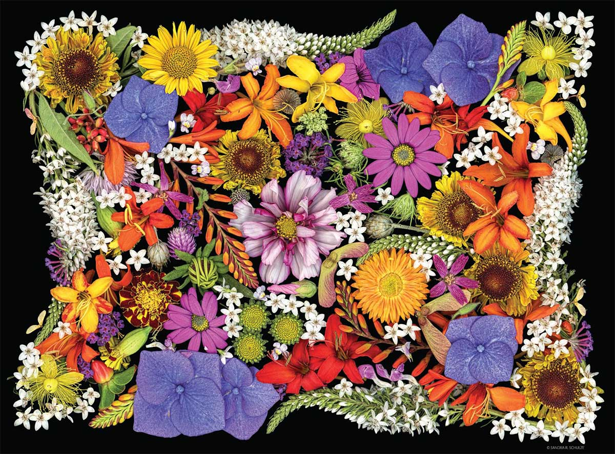 Posy Patch Flowers Jigsaw Puzzle