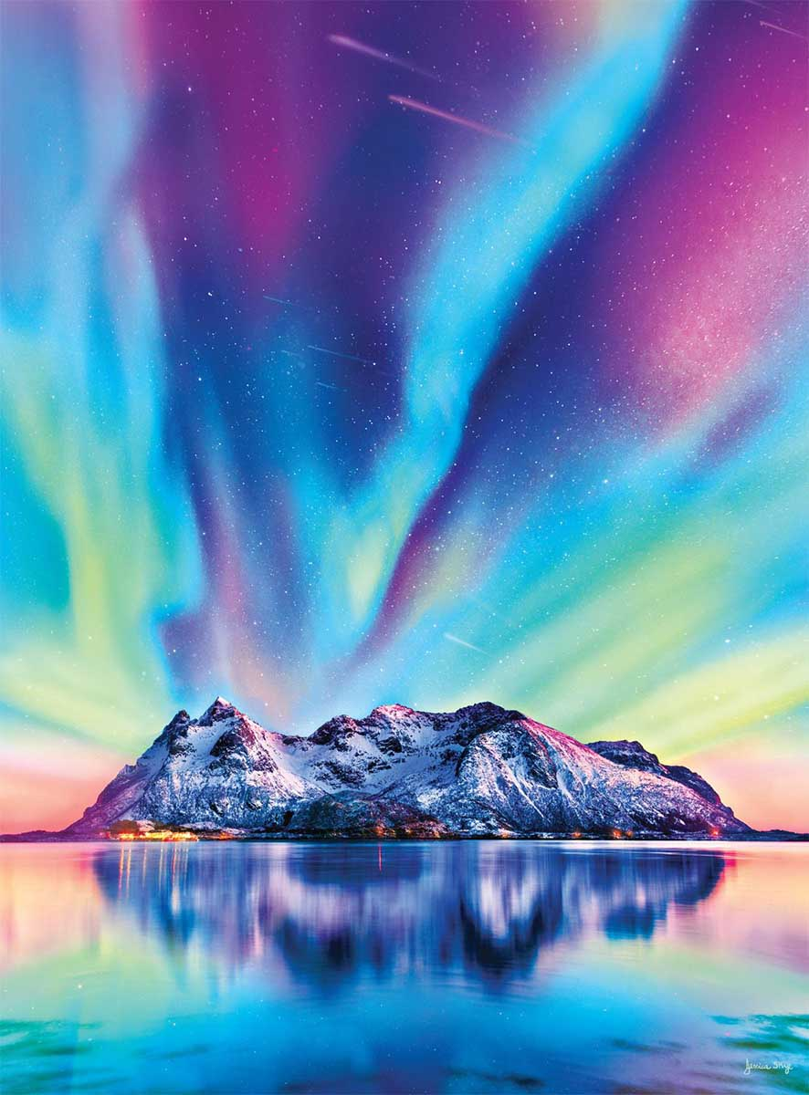 Colors on the Mountain Mountains Jigsaw Puzzle