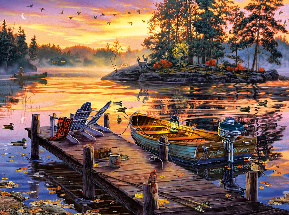 Morning Paradise Lakes / Rivers / Streams Jigsaw Puzzle