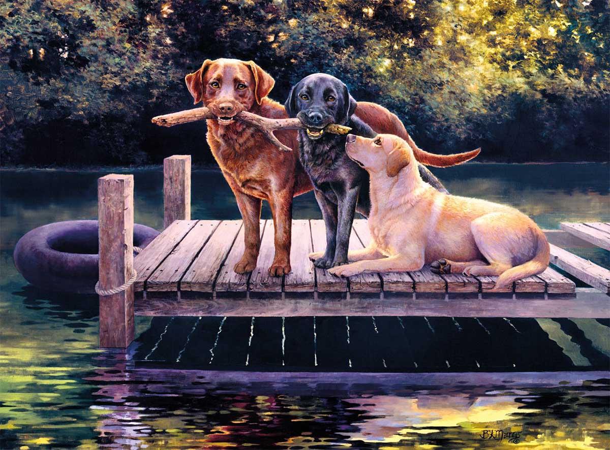Dog Days Dogs Jigsaw Puzzle