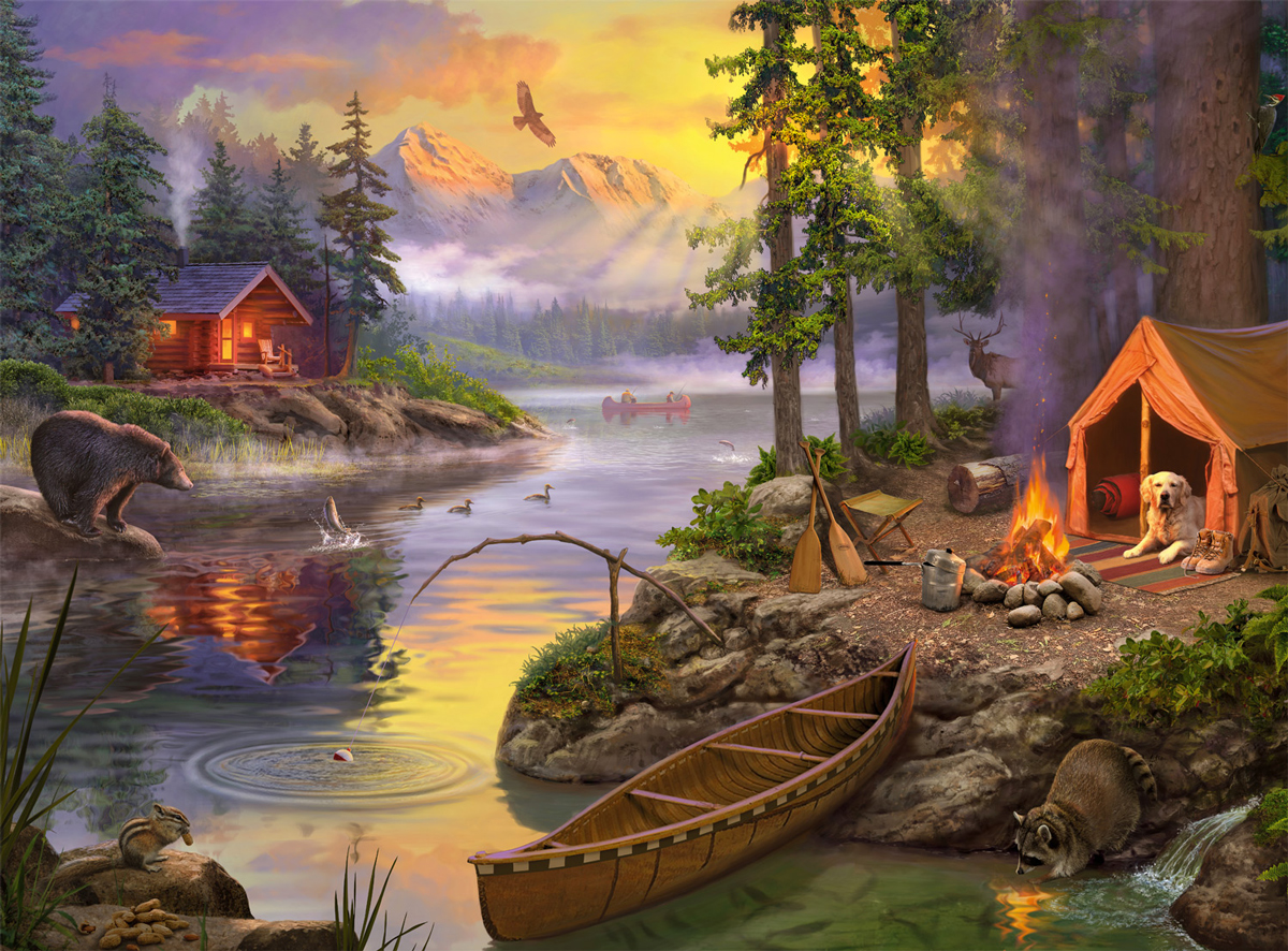 The Lake House Outdoors Jigsaw Puzzle