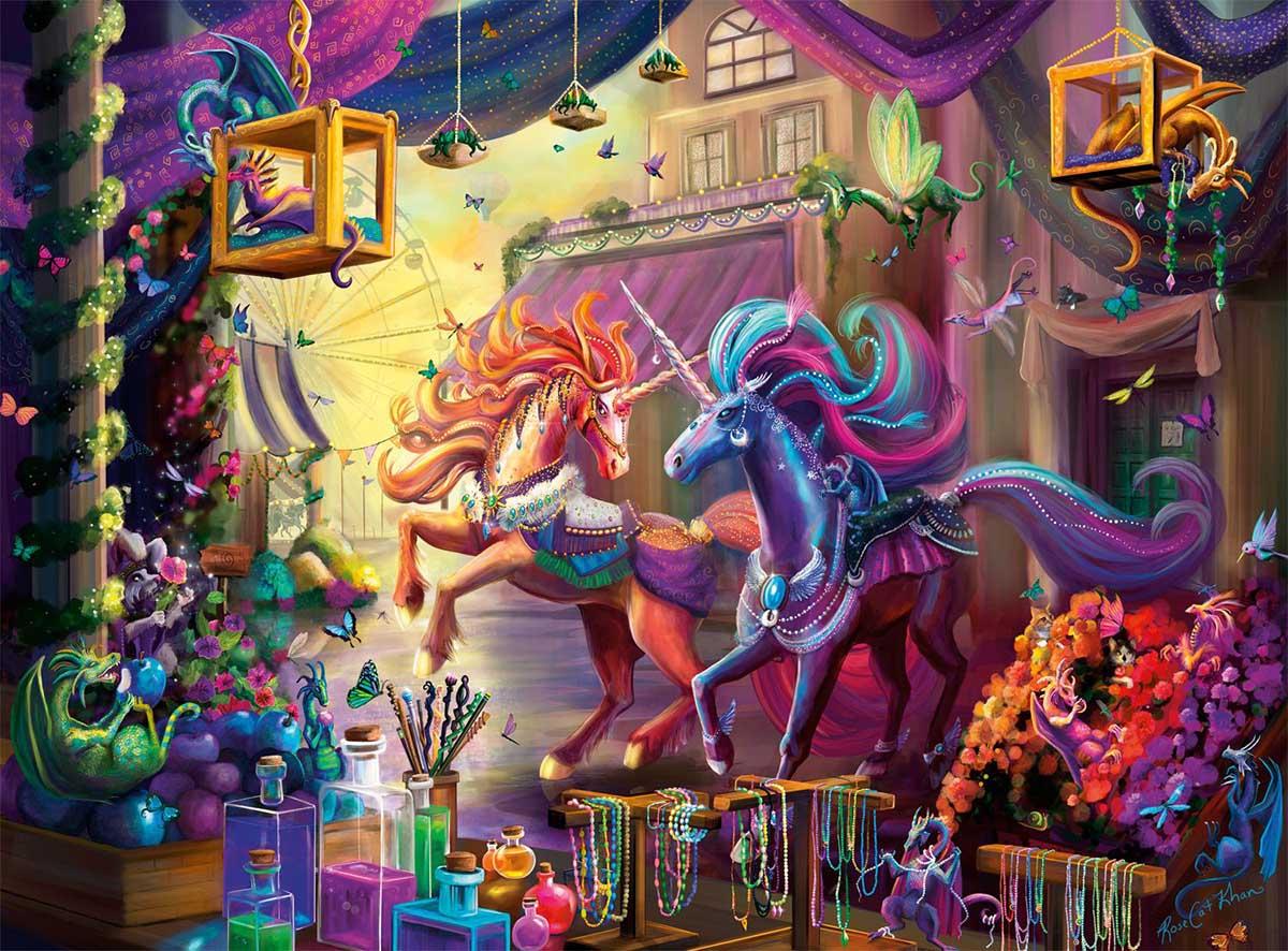 Twilight Marketplace Dragons Jigsaw Puzzle