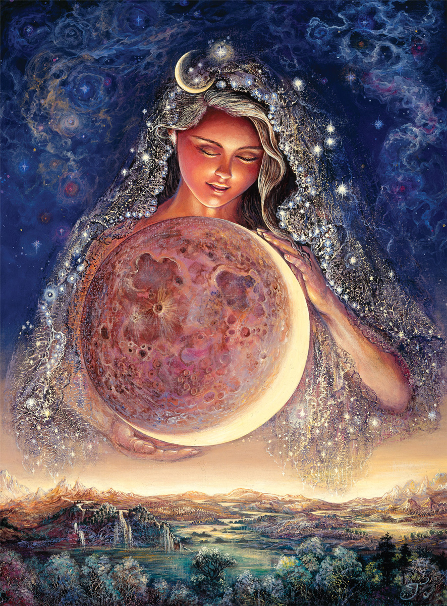 Moon Goddess (Glitter Edition) Fantasy Jigsaw Puzzle