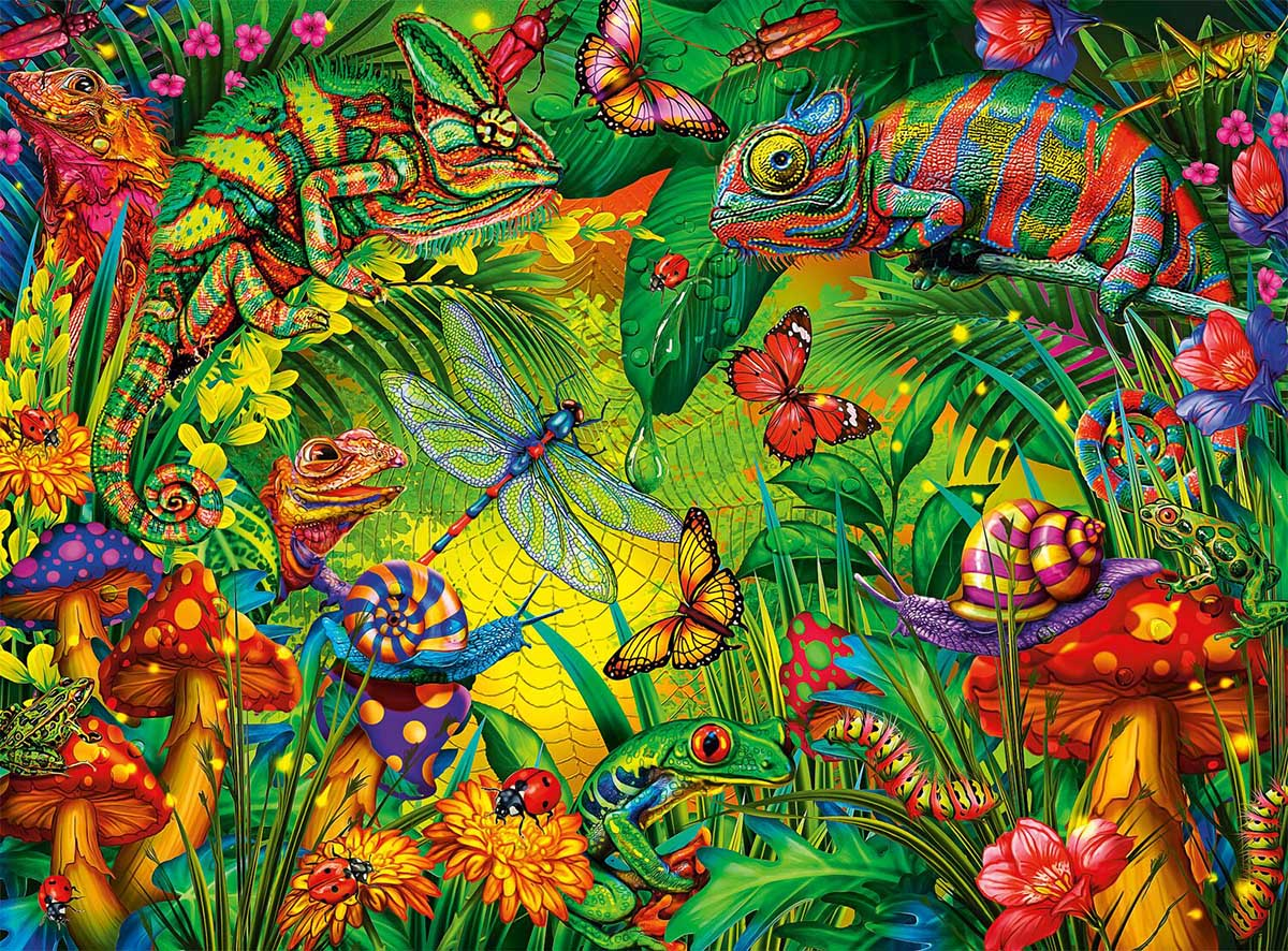 Tropical Forest Butterflies and Insects Jigsaw Puzzle