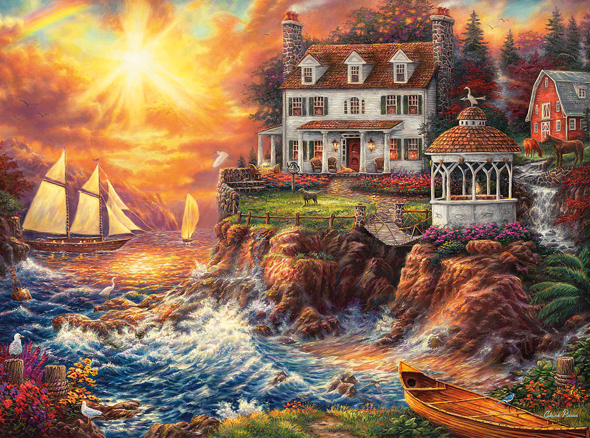 Life Above The Fray Seascape / Coastal Living Jigsaw Puzzle