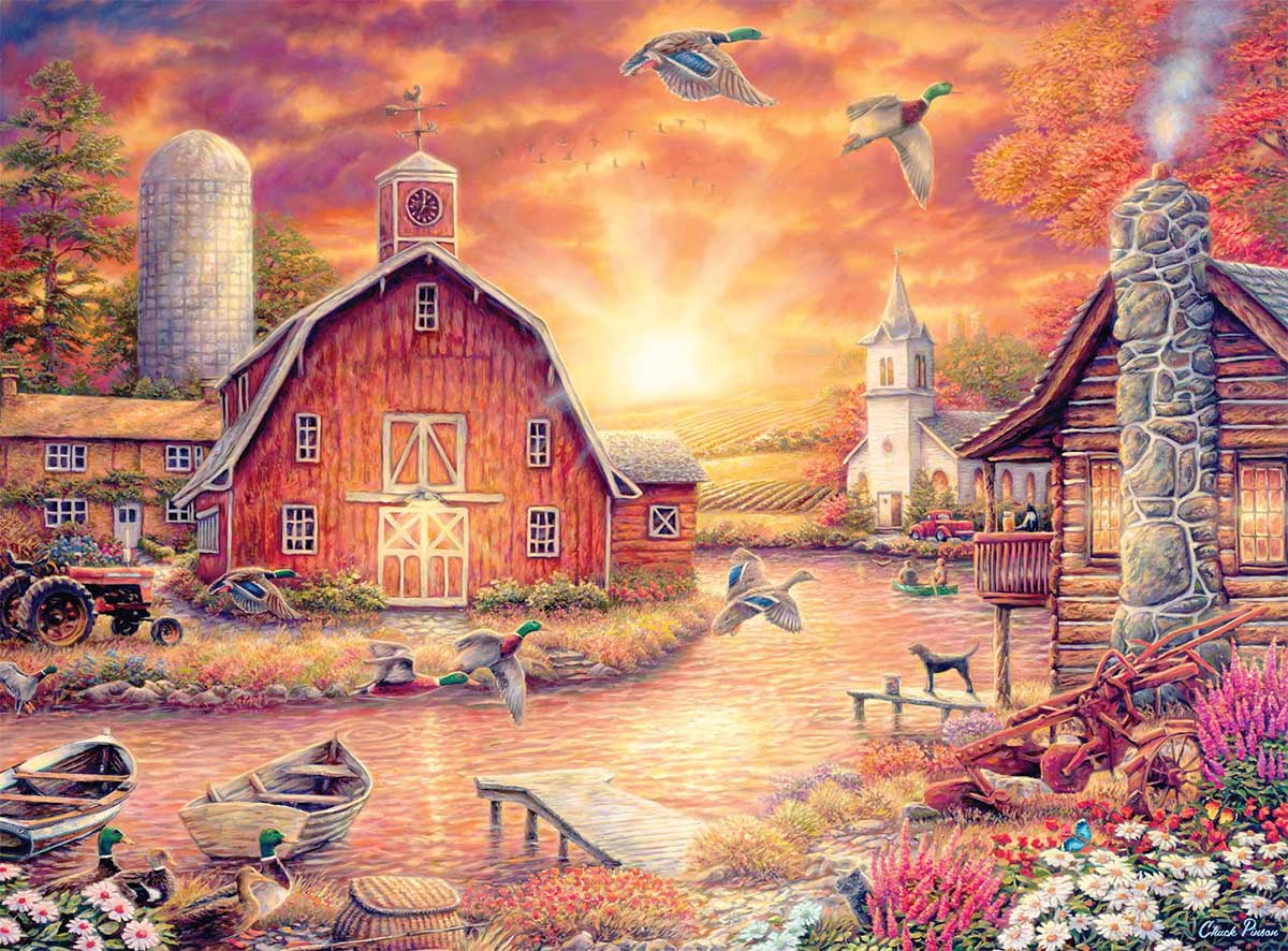 Honey Drip Farms Farm Jigsaw Puzzle