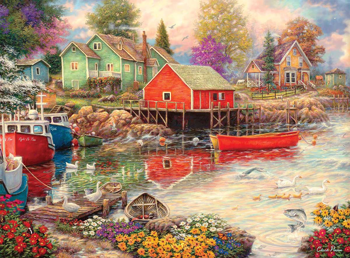 Quiet Cove Flowers Jigsaw Puzzle