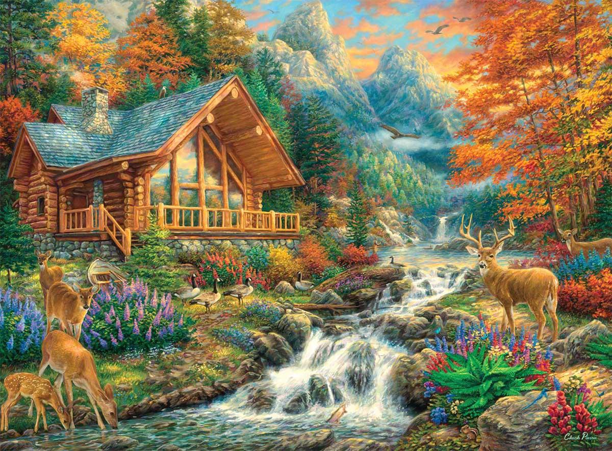 Alpine Serenity Animals Hidden Images
