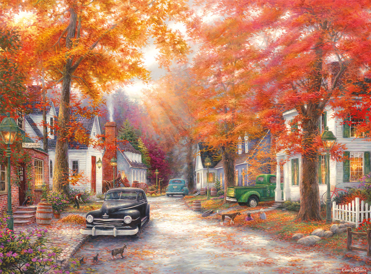A Moment On Memory Lane Street Scene Jigsaw Puzzle