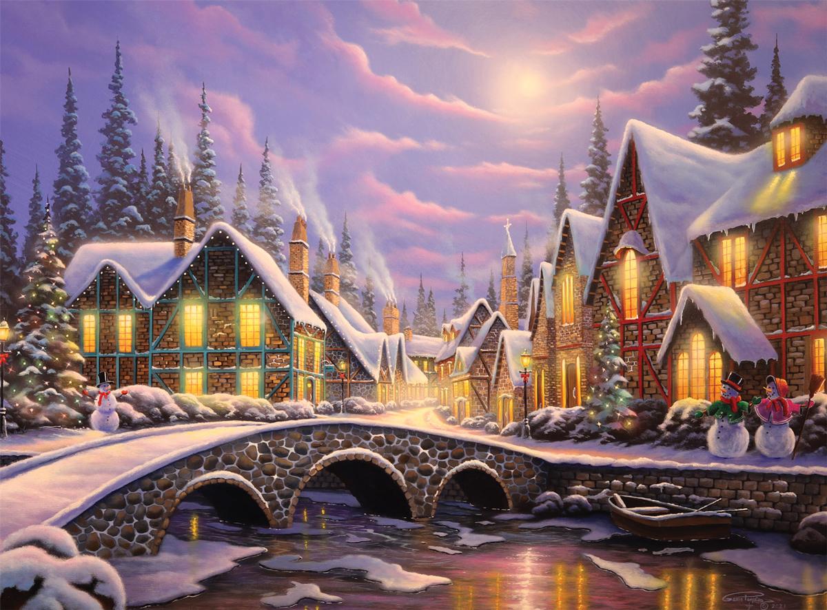 A Snowy Christmas Christmas Jigsaw Puzzle