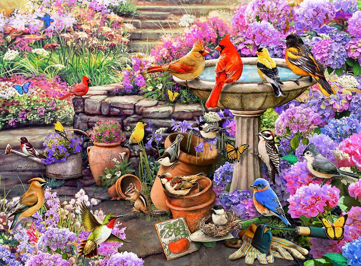 Spring Clean Up Birds Jigsaw Puzzle