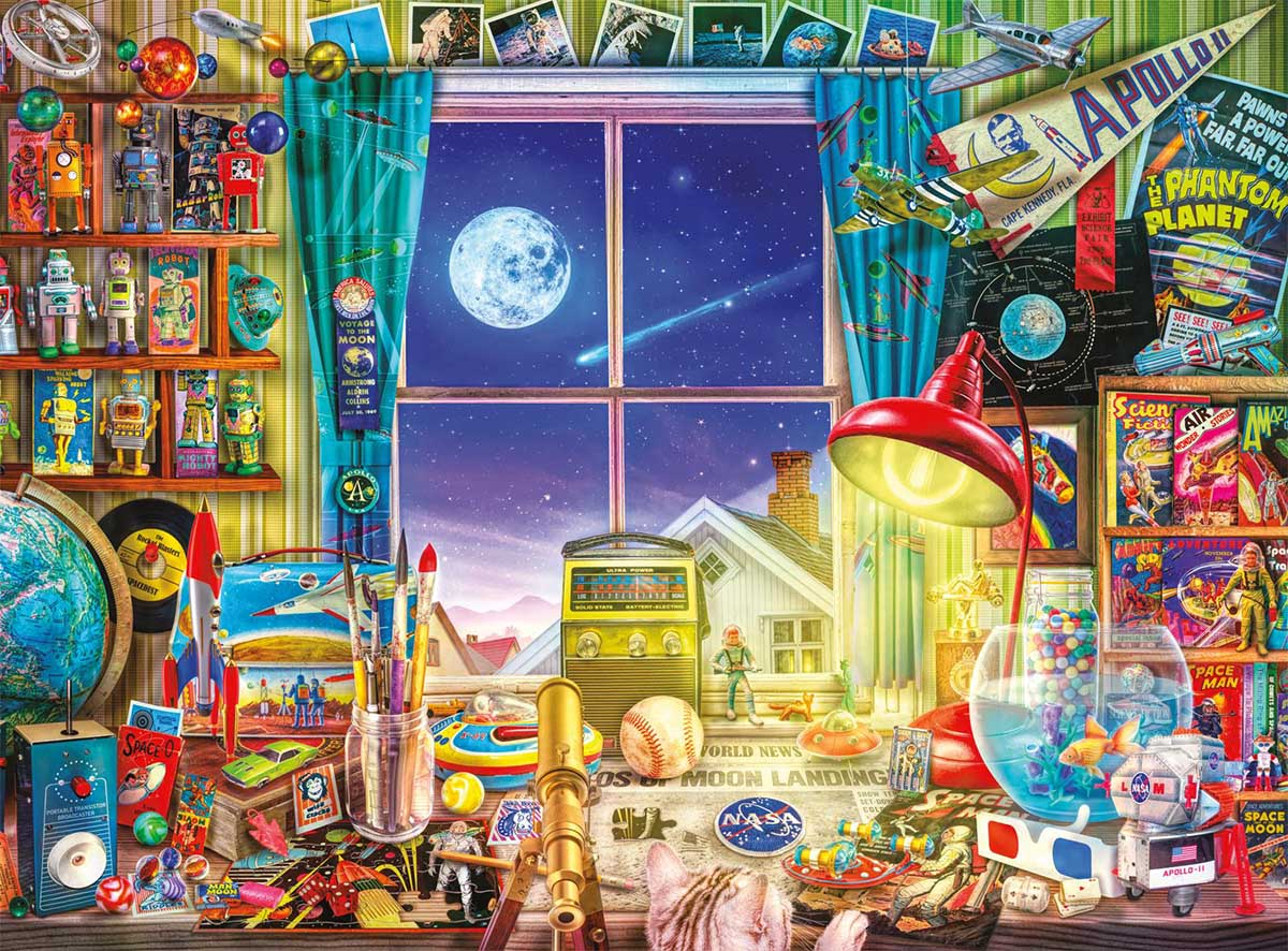 To The Moon Space Jigsaw Puzzle