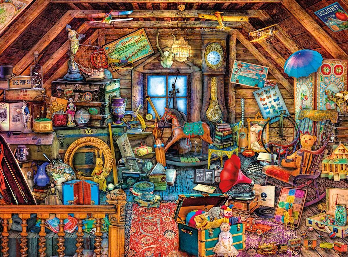 Grandma's Attic Nostalgic / Retro Jigsaw Puzzle