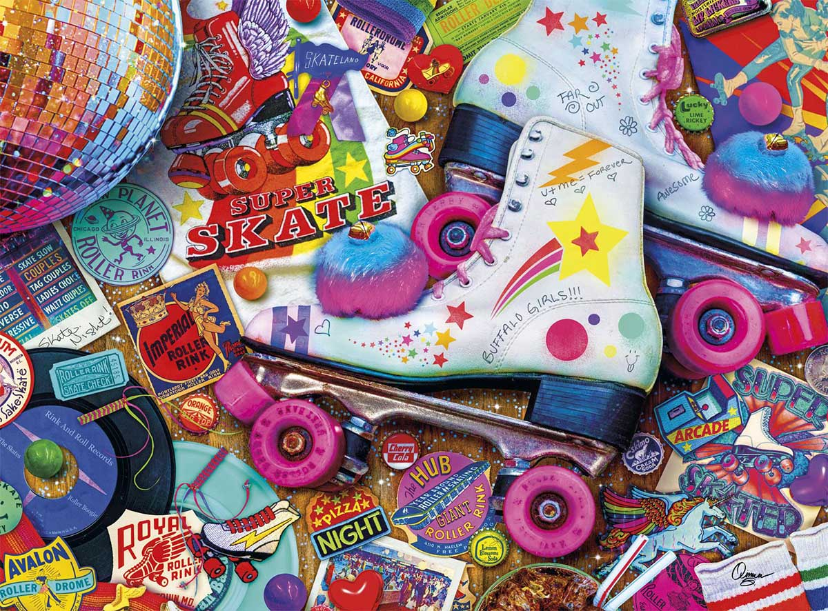 Skate Night Nostalgic / Retro Jigsaw Puzzle