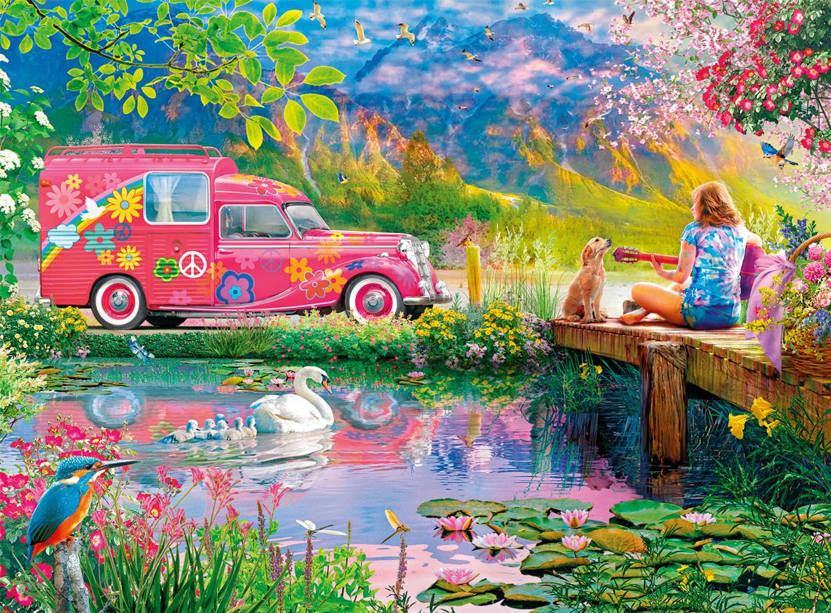 Hippie Heaven Vehicles Jigsaw Puzzle