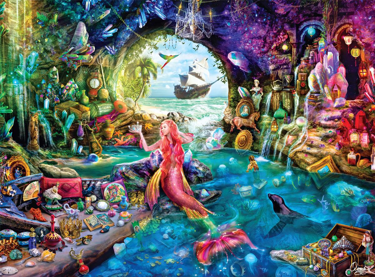 A Mermaid's Treasure Mermaids Jigsaw Puzzle