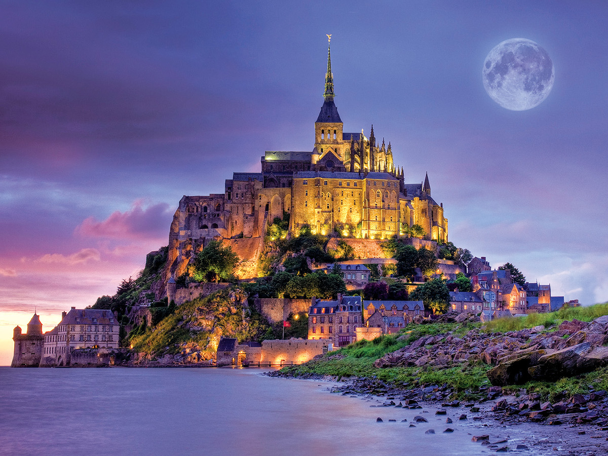 Mont Saint Michel, France (Majestic Castles) Travel Jigsaw Puzzle