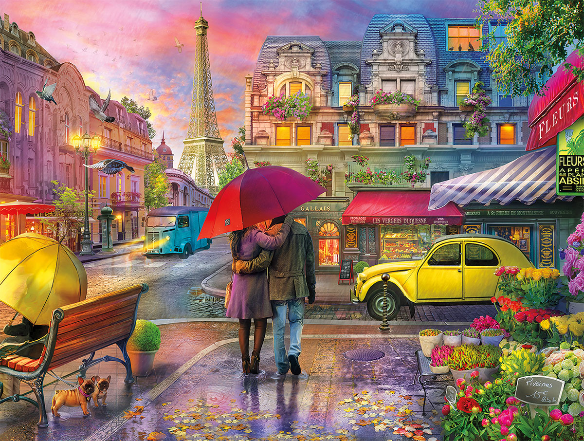 Raining in Paris Summer Jigsaw Puzzle