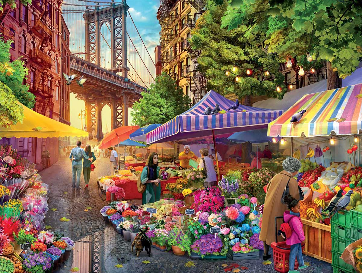 Brooklyn Flower Market Flowers Jigsaw Puzzle