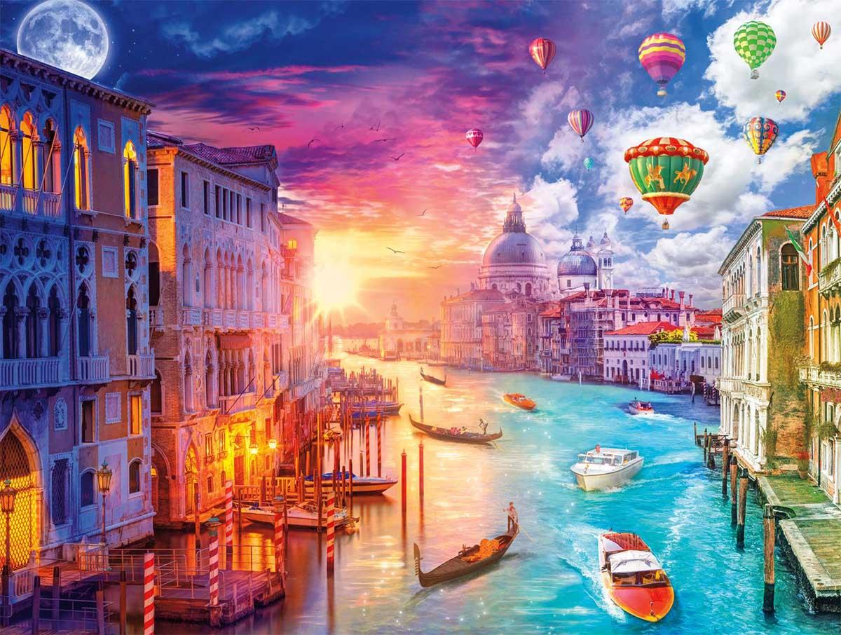 Venice, City on Water Street Scene Jigsaw Puzzle