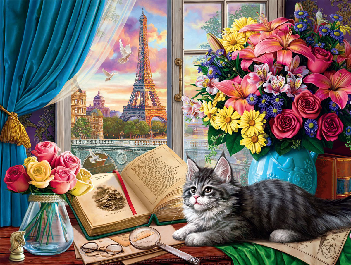 Mademoiselle Cat Cats Jigsaw Puzzle