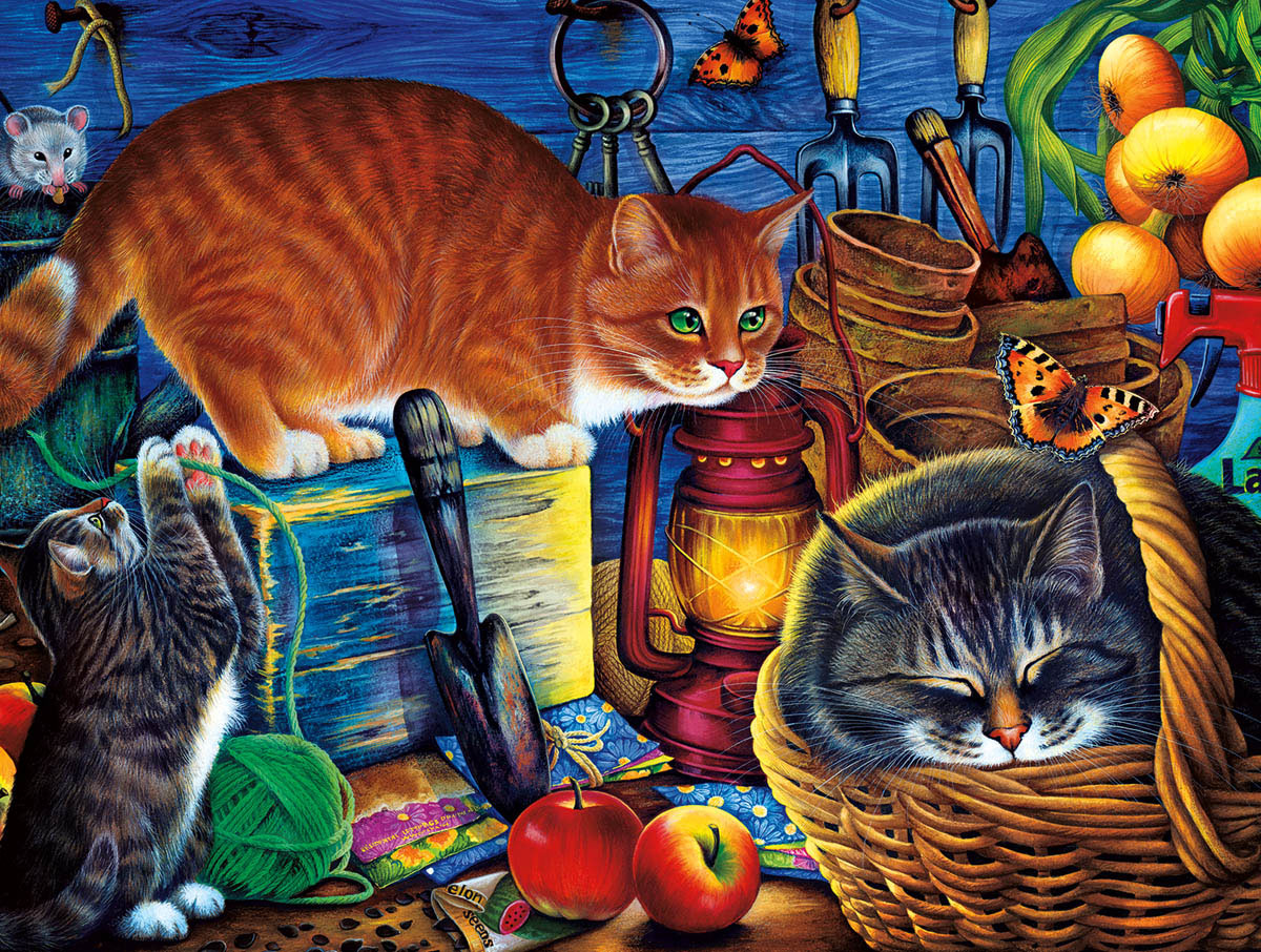 Potting Shed Cats Animals Jigsaw Puzzle