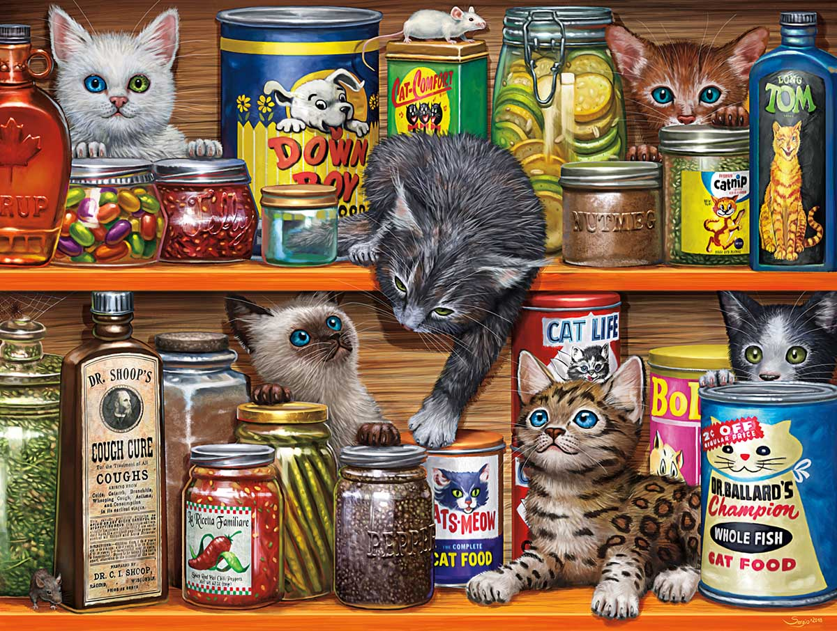 Spice Rack Kittens Cats Jigsaw Puzzle