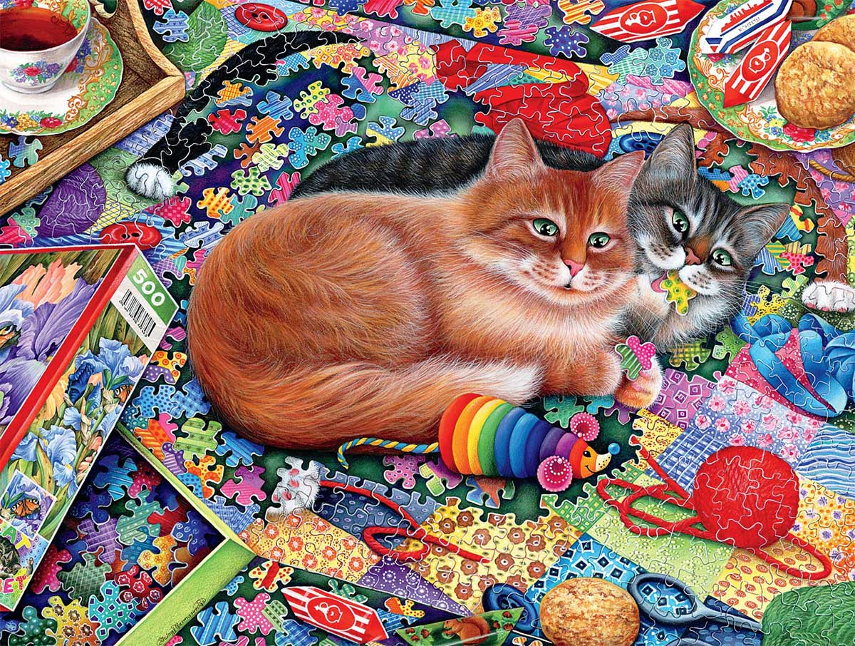 Puzzling Problem Cats Jigsaw Puzzle