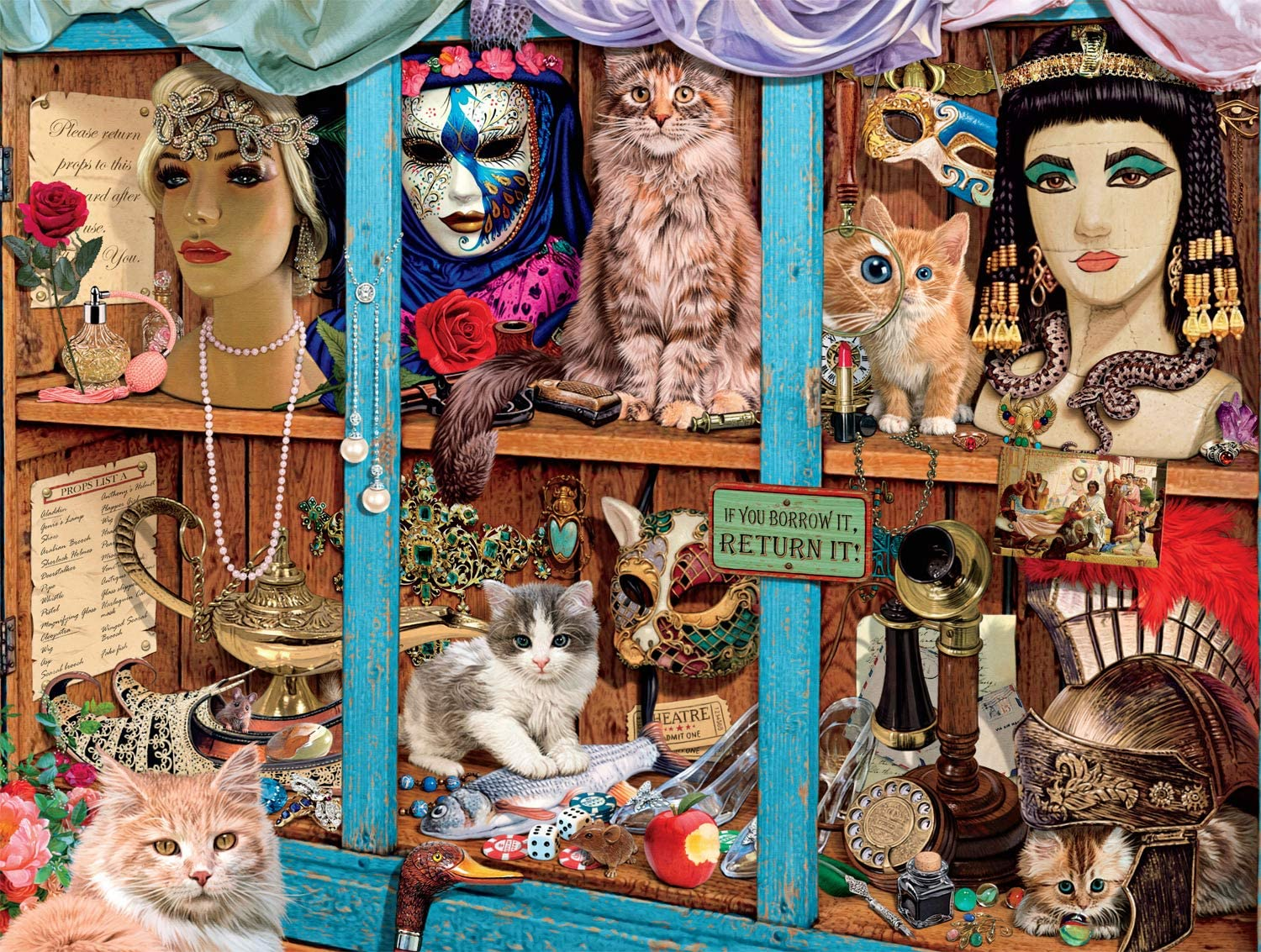 Props Cupboard Cats Jigsaw Puzzle