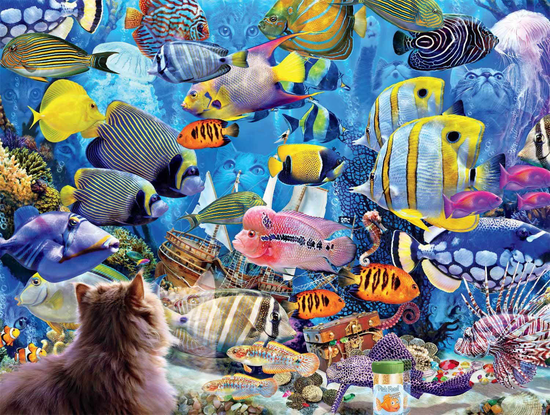 Aquatic Fantasies Cats Jigsaw Puzzle